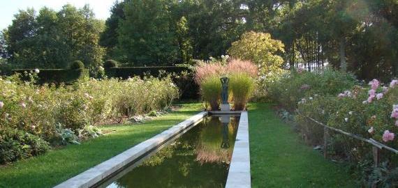 Bassin roseraie © Jardin de la Javelière