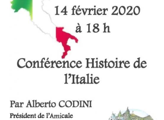 CONFERENCE - HISTOIRE DE L'ITALIE