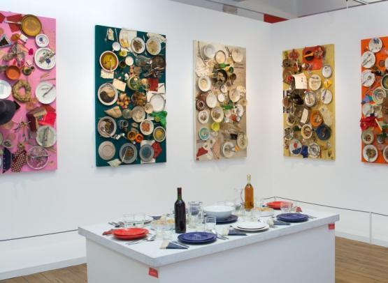 Daniel Spoerri - 13 tableaux-pièges astro-gastronomiques, 1975