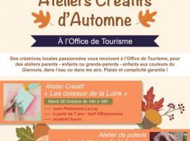 Affiche ateliers d'automne
